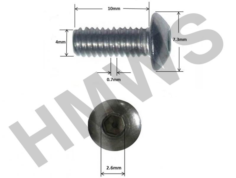 M4 4MM NYLOC STAINLESS STEEL NUTS